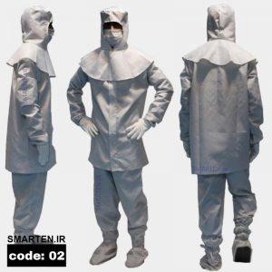 لباس آنتی استاتیک اتاق تمیز کد 02